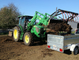 tracteur charge fumier